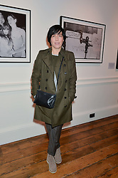 SHARLEEN SPITERI at a private view of Chris Stein/Negative: Me, Blondie And The Advent Of Punk, held at Somerset House, The Strand, London on 5th November 2014.