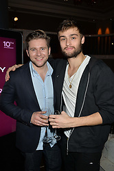 Left to right, ALLEN LEECH and DOUGLAS BOOTH at the Old Vic 24 Hour Plays Celebrity Gala held at the Rosewood Hotel, 252 High Holborn, London on 24th November 2013.