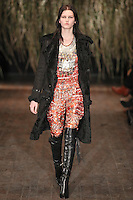 Katlin Aas walks down runway for F2012 Altuzarra's collection in Mercedes Benz fashion week in New York on Feb 10, 2012 NYC's