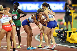 Laviai Nielsen of Great Britain reacts to her team's silver medal finish - Mandatory byline: Patrick Khachfe/JMP - 07966 386802 - 13/08/2017 - ATHLETICS - London Stadium - London, England - Men's 4x400m Metres Relay Final - IAAF World Championships