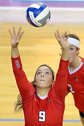 07 October 2017:  Stef Jankiewicz during a college women's volleyball match between the Crusaders of Valparaiso and the Illinois State Redbirds at Redbird Arena in Normal IL (Photo by Alan Look)