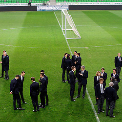 20110324: SLO, Football - Italy's National team arrived to Stadium in Stozice