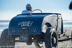 Thomas Berry of Florida driving his 1930 Ford Model A Roadster at the Race of Gentlemen. Wildwood, NJ, USA. October 11, 2015.  Photography ©2015 Michael Lichter.
