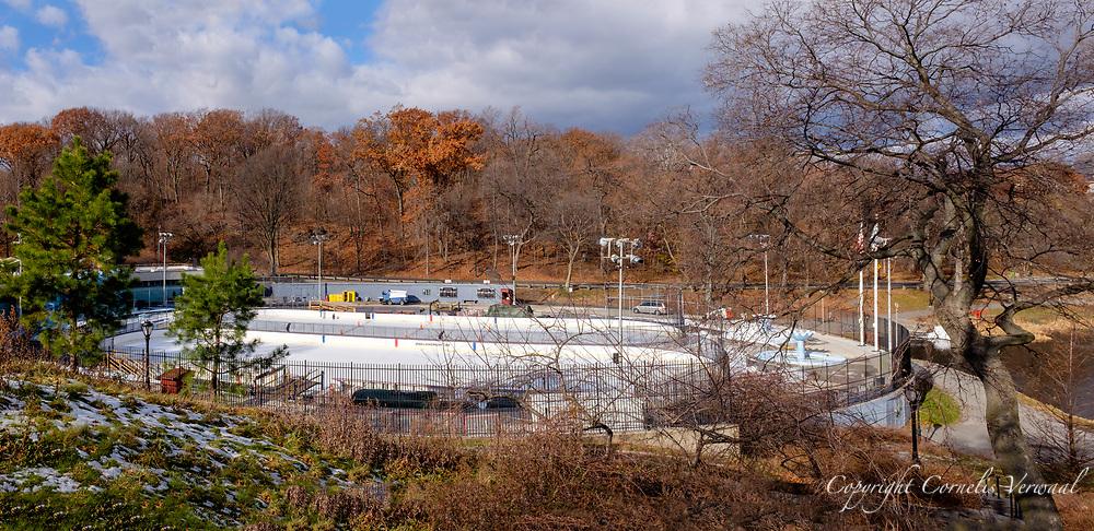 Lasker skating rink near Harlem Meer in Central Park