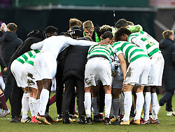 Celtic team huddle after the Ladbrokes Scottish Premiership match at Tynecastle Stadium, Edinburgh. PRESS ASSOCIATION Photo. Picture date: Sunday December 17, 2017. See PA story SOCCER Hearts. Photo credit should read: Ian Rutherford/PA Wire. EDITORIAL USE ONLY
