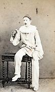 portrait mime artist late 1800s France