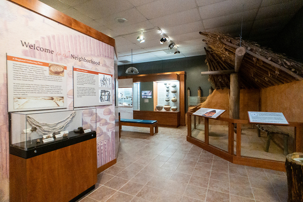 The small museum inside the visitor center at Ocmulgee Mounds National Historical Park in Macon, Georgia on Monday, July 19, 2021. Copyright 2021 Jason Barnette