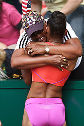 Olympic Trials Eugene 2012: women's 400 Hurdles, T'Erea Brown, 3rd, victory lap, hugs mom, Olympian