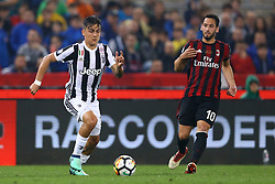 May 9, 2018 - Rome, Italy - Paulo Dybala of Juventus and Hakan Calhanoglu of Milan during the TIM Cup Final between Juventus and AC Milan at Stadio Olimpico on May 9, 2018 in Rome, Italy. (Credit Image: © Matteo Ciambelli/NurPhoto via ZUMA Press)
