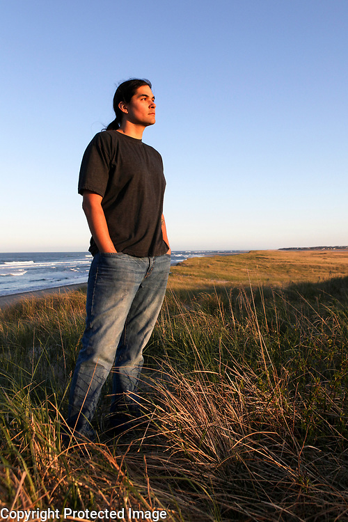 Childhood cancer survivor and author, Billy Best, is photographed at Coastguard Beach in Eastham, MA.