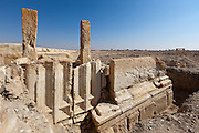 Marble doors. Palmyra, Syria. Ancient city in the desert that fell into disuse after the 16th century.
