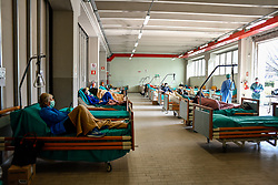 March 17, 2020, Bergamo, Italy: Triage of the Civil Hospitals of Brescia set up for coronavirus emergency (Credit Image: © Claudio Furlan/LaPresse via ZUMA Press)