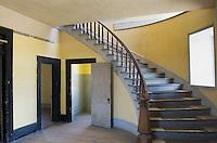 Restored interior of historic Hotel Meade in Bannack State Park Montana