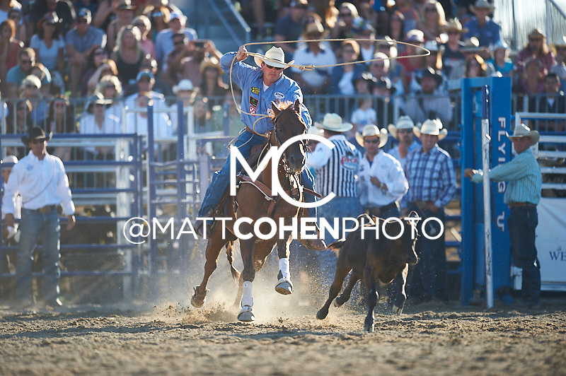 Tie-down roper Ryan Jarrett of Comanche, OK competes at the Rancho Mission Viejo Rodeo in San Juan Capistrano, CA.<br /> <br /> <br /> UNEDITED LOW-RES PREVIEW<br /> <br /> <br /> File shown may be an unedited low resolution version used as a proof only. All prints are 100% guaranteed for quality. Sizes 8x10+ come with a version for personal social media. I am currently not selling downloads for commercial/brand use.