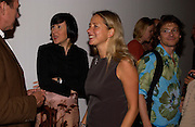 Alice Rawthorne director of the Design Museum and Iwona Blazwick director of the Whitechapel. Paul Noble and Tobias Rehberger opening, Whitechapel. 9 September 2004.  SUPPLIED FOR ONE-TIME USE ONLY-DO NOT ARCHIVE. © Copyright Photograph by Dafydd Jones 66 Stockwell Park Rd. London SW9 0DA Tel 020 7733 0108 www.dafjones.com