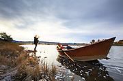 Ben Tyson Fly fishing on Montana's Missouri River, Montana.