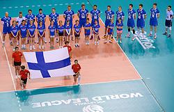 20150614 NED: World League Nederland - Finland, Almere<br /> Line up voor Finland