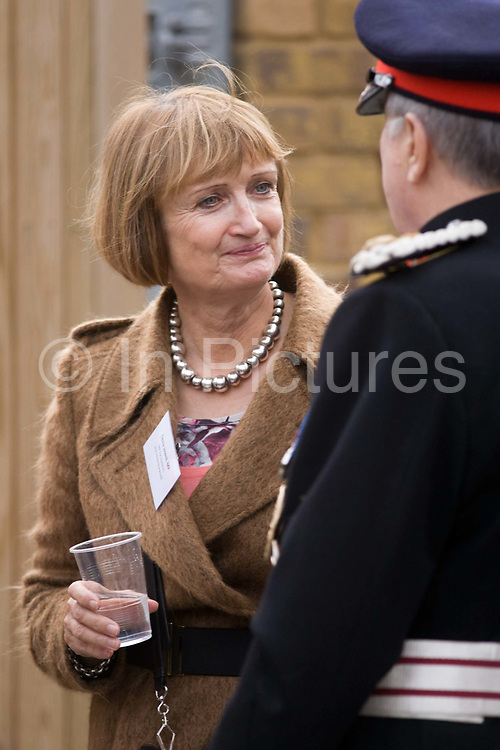 Tessa Jowell MP chats to a Lord Lieutenant before the arrival of the Queen who made a brief visit to the Ebony Horse Club at Loughborough Junction, Brixton, London. Dame Tessa Jane Jowell DBE (born 17 September 1947) is a British Labour Party politician, who has been the Member of Parliament (MP) for Dulwich and West Norwood since 1992. Formerly a member of both the Blair and Brown Cabinets, she was Shadow Minister for the Olympics and Shadow Minister for London until 11 September 2012, resigning two days after the end of London 2012.