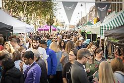 Cheese festival in Chapel Market, Islington, London UK September 2017