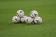 Official match balls ahead of the The FA Cup 3rd round match between Derby County and Southampton at the Pride Park, Derby, England on 5 January 2019.