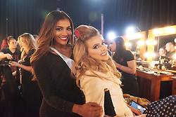 December 8, 2019, Atlanta, Georgia, USA: Mehr Eliezer, Miss Panama 2019; and Madison Anderson, Miss Puerto Rico 2019; gets hair done by a stylist from Farouk Systems, the Makers of CHI & Biosilk and makeup done by an OP Cosmetics artist backstage during The Miss Universe Competition telecast, held at Tyler Perry Studios. Contestants from around the globe have spent the last few weeks touring, filming, rehearsing and preparing to compete for the Miss Universe crown. (Credit Image: © Benjamin Askinas/Miss Universe Organization via ZUMA Wire)