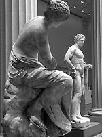A Muse admiring a youthful Hercules; Roman Galleries, Metropolitan Museum of Art, New York.