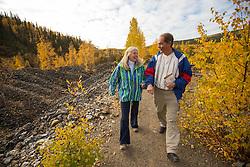 The Discovery Claim National Historic Site in the Klondike Gold Fields near Dawson City, Yukon
