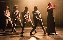 The Pleasance venue launched its 2017 Edinburgh Fringe Festival programme hosted by comedian Ed Gamble<br /> <br /> Pictured: 201 Dance Company performance of Skin playing at Pleasance Courtyard