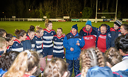 Post-match pep-talk by Bristol Ladies head coach Kim Oliver - Mandatory by-line: Paul Knight/JMP - 16/12/2017 - RUGBY - Cleve RFC - Bristol, England - Bristol Ladies v Worcester Valkyries - Tyrrells Premier 15s