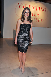 ELIZABETH HURLEY at a private view of 'Valentino: Master Of Couture' at Somerset House, London on 28th November 2012.