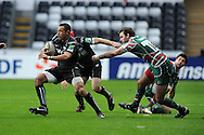 Eli Walker of the Ospreys makes a break. Heineken cup rugby, pool 2, Ospreys v Leicester Tigers at the Liberty Stadium in Swansea, South Wales on Sunday 13th Jan 2013. pic by Andrew Orchard, Andrew Orchard sports photography,