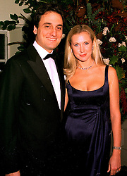 COUNT ALESSANDRO GUERRINI-MARALDI and his fiance, model MISS CATRINA SKEPPER, at a dinner in London on 23rd October 1998.MLD 48