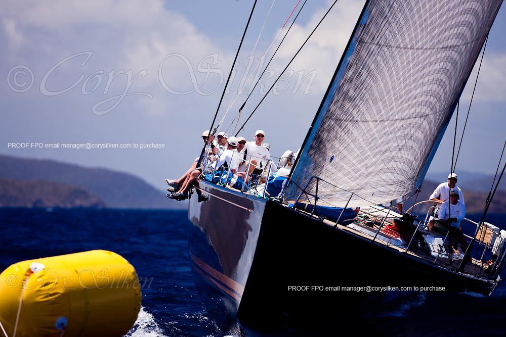 astro de l'est sailing in the Caribbean Superyacht Regatta and Rendezvous, race 1.