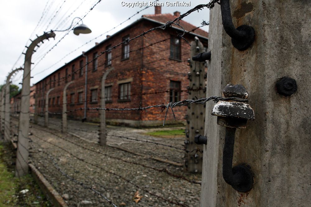 Barbed wire, electric fences at Auschwitz Concentration Camp in Poland on Tuesday July 5th 2011.  (Photo by Brian Garfinkel)