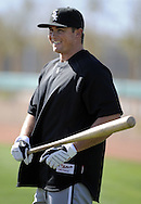 GLENDALE, AZ - FEBRUARY 23:  Mark Teahen #23 of the Chicago White Sox looks on during a spring training workout on February 23, 2010 at the White Sox training facility at Camelback Ranch in Glendale, Arizona. (Photo by Ron Vesely)