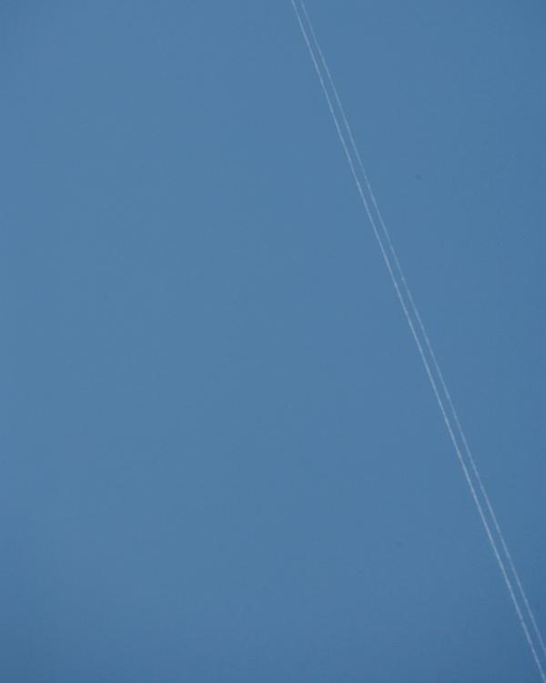 Jet stream against a blue sky