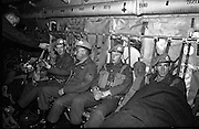 Irish Army troops on their way to Cyprus to serve with the UN peacekeeping force.<br /> 13.10.1964