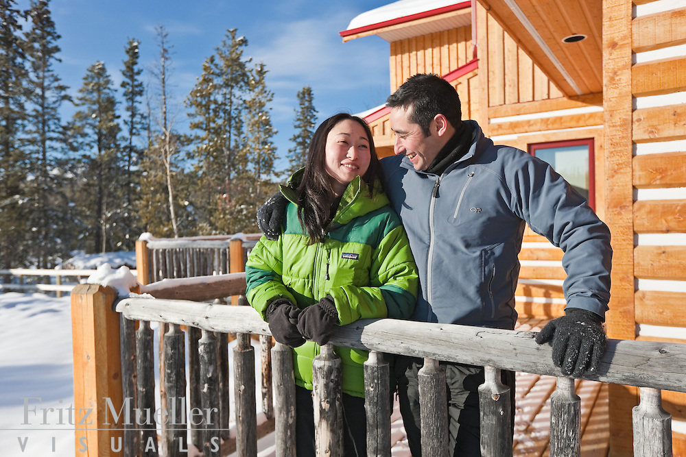 Enjoying a lodge retreat at Uncommon Journeys in the Ibex Valley near Whitehorse, Yukon, Canada