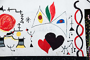 Bolivia 2013. La Paz. Street Art. Abstract design with love hearts in the style of Joan Miro