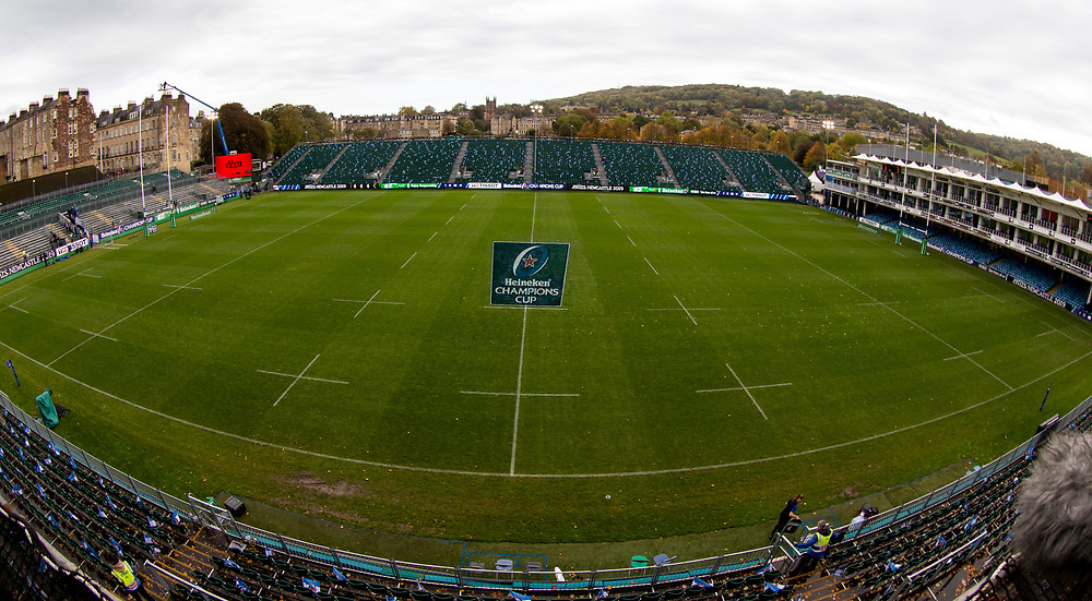 A general view of The Recreation Ground, home of Bath Rugby<br /> <br /> Photographer Bob Bradford/CameraSport<br /> <br /> European Rugby Champions Cup - Bath Rugby v Toulouse - Saturday 13th October 2018 - The Recreation Ground - Bath<br /> <br /> World Copyright © 2018 CameraSport. All rights reserved. 43 Linden Ave. Countesthorpe. Leicester. England. LE8 5PG - Tel: +44 (0) 116 277 4147 - admin@camerasport.com - www.camerasport.com