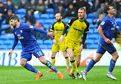 Callum Paterson of Cardiff City scores a goal making it 3-1 - Mandatory by-line: Nizaam Jones/JMP- 30/03/2018 -  FOOTBALL -  Cardiff City Stadium- Cardiff, Wales -  Cardiff City v Burton Albion - Sky Bet Championship