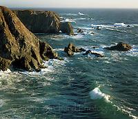 Pacific Ocean, as seen from the Mendocino Headlands state park, mendocino California