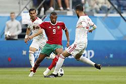 (l-r) Ayoub El Kaabi of Morocco, Rouzbeh Cheshmi of IR Iran