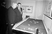 22/10/1963<br /> 10/22/1963<br /> 22 October 1963<br /> R.D.S. Scientific Exhibition opens. Bord na Mona stand at the exhibition. Taoiseach Sean Lemass (right) with Mr. D.C. Lawlor, Managing Director, Bord na Mona.
