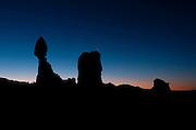 Sunrise at Balanced Rock, Arches National Park, Utah, USA