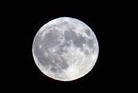 Hunter's Blue Moon on Halloween photo by Michael Butterworth