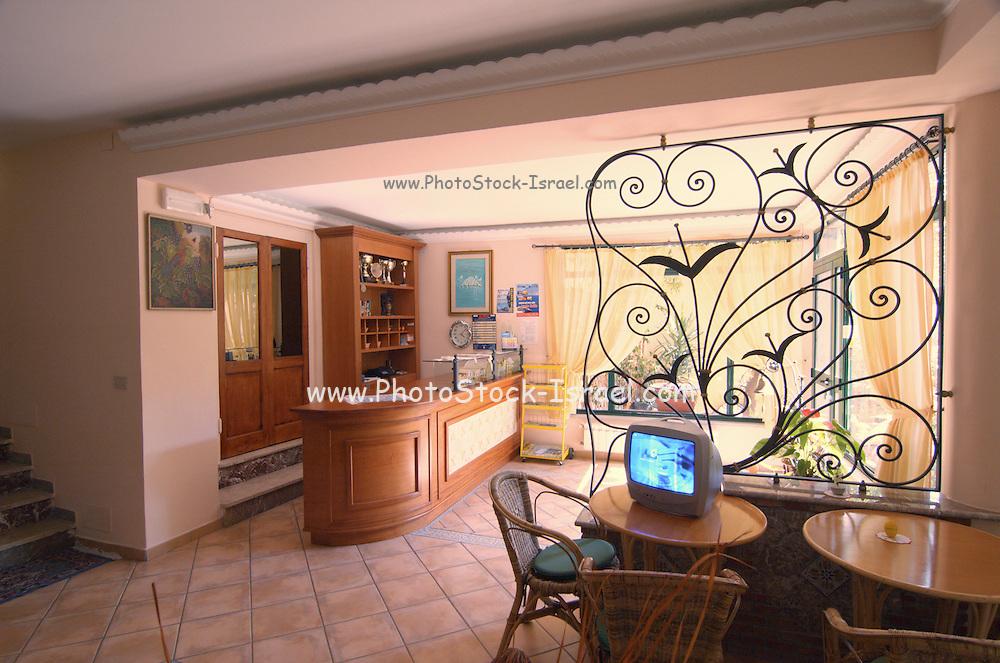 The interior of Hotel Villa Gaia, Taormina, sicily, Italy, July 2006
