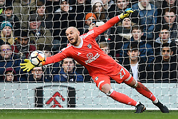 January 6, 2018 - Fulham, England, United Kingdom - Fulham goalkeeper David Button makes a save during the FA Cup 3rd Round match between Fulham against Southampton  at Craven Cottage Stadium, London England on 06 Jan 2018. (Credit Image: © Kieran Galvin/NurPhoto via ZUMA Press)