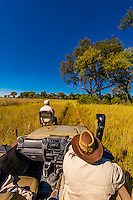 Safari vehicle, Kwara Camp, Okavango Delta, Botswana.