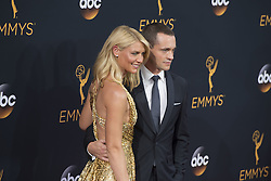 September 18, 2016 - Los Angeles, California, U.S. - CLAIRE DANES AND HUSBAND HUGH DANCY arrive for the 68th Annual Primetime Emmy Awards, held at the Nokia Theatre. (Credit Image: © Kevin Sullivan via ZUMA Wire)
